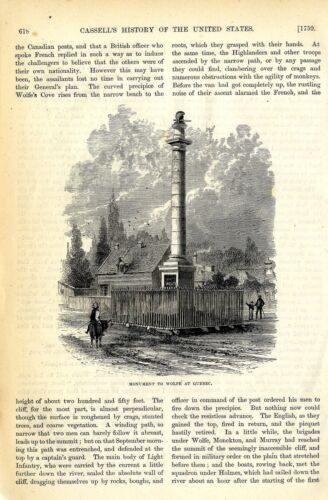 MONUMENT TO WOLFE AT QUEBEC * HISTORICAL MEMORABILIAReenactment & Reproductions - 156376