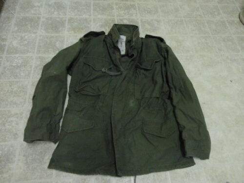 VINTAGE ORIGINAL US ARMY AFTER VIETNAM FIELD JACKET M65 NOT MUCH USED 1980 Original Period Items - 13983