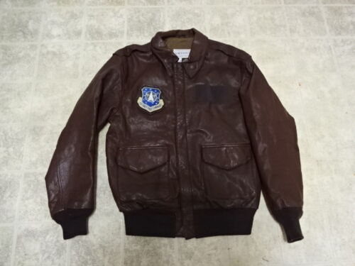 GREAT COND NOT MUCH USE VINTAGE U.S AIR FORCE A2 FLIGHT LEATHER JACKET BY COOPEROriginal Period Items - 156451