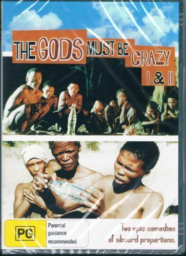 The Gods Must Be Crazy DVD Part 1 & 2 I & II New & Sealed Australian Release