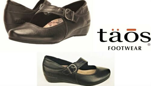 Taos Shoes Leather Comfort wedges with adjustable strap Taos Footwear Option
