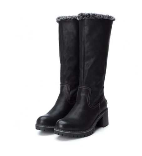 Ladies Xti Refresh New Black Mid Calf Boots Shoes New RRP £50 UK Sizes 2.5-7.5