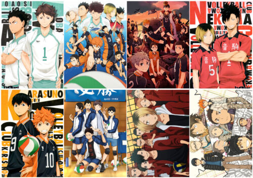 Haikyuu Polypropylene A3 8 pieces Posters wall poster