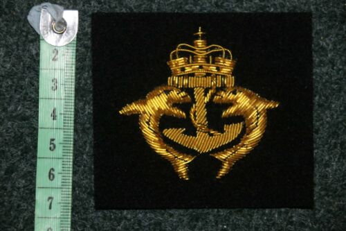US AMERICAN ENLISTED SUBMARINE BULLION WIRE BREAST BADGE SILVER DOLPHINS