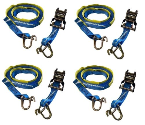 Canoe Tie-Down Straps 2 x 5M x 35mm Strong Straps with Buckle Protector Pad