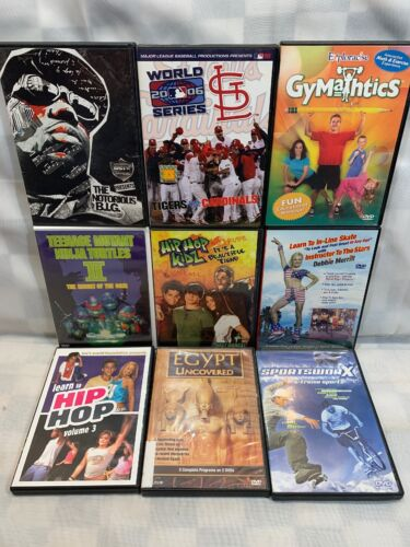 (9 DVD Lot) Notorious B.I.G. St Louis Cardinals World Series In Line Skate TMNT