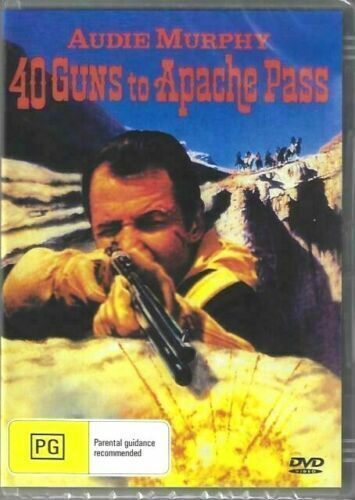 40 Guns To Apache Pass DVD Audie Murphy Brand New and Sealed Australian Release