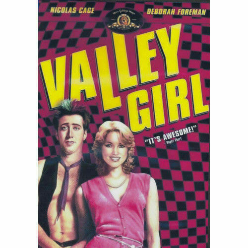 Valley Girl DVD Nicolas Cage Brand New and Sealed Australian Release