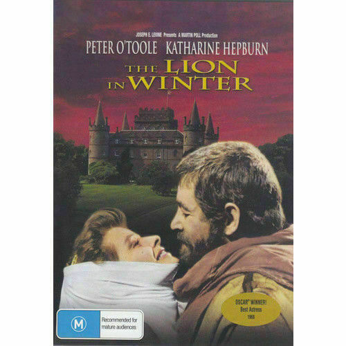 The Lion In Winter DVD Peter O'Toole Brand New and Sealed Australian Release