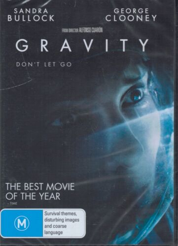 GRAVITY DVD Starring Sandra Bullock & George Clooney NEW & SEALED Free post