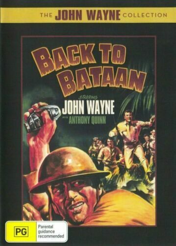 Back to Bataan DVD John Wayne New and Sealed Australian Release