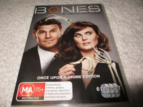 Bones : Season 8 (DVD, 2013, 6-Disc Set) HH49