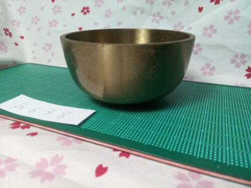 """2.972"""" Japanese Vintage Buddhist Bell Gong Rin G638 Traditional Tone"""