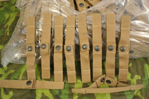 1 LOT 10 NEW US MILITARY USMC COYOTE CUMMERBUND STAYS EAGLE IND MTV CLIP KEEPERSOther Military Surplus - 588