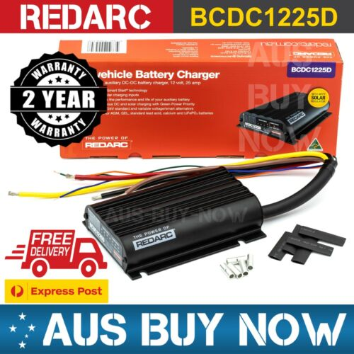 REDARC AGM BCDC1225D DC to DC Dual Battery Vehicle Charger 12V 25A Lithium Solar <br/> EXPRESS POST 25Amps of CONTINOUS Output Current Rating