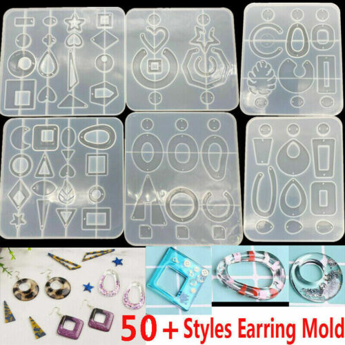 Silicone Earring Pendant Mold Necklace Jewelry Resin Mould Casting Craft Tool