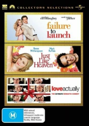 FAILURE TO LAUNCH / JUST LIKE HEAVEN / LOVE ACTUALLY New 3 Dvd Collection ***