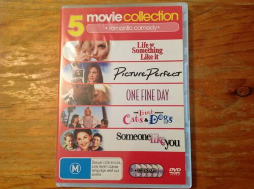 5 romance DVD-Picture Perfect/One Fine Day/Someone Like You/Life or Something Li