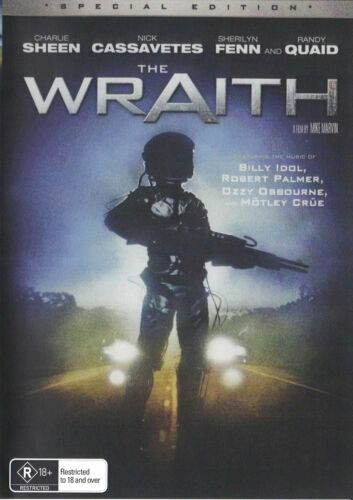 The Wraith DVD Charlie Sheen Brand New and Sealed Plays Worldwide NTSC 0