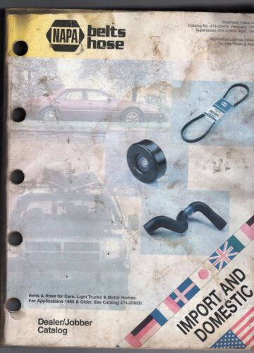 1997 NAPA BELTS/HOSE DEALER CATALOG-IMPORT AND DOMESTIC CARS & TRUCKS-740 PAGES