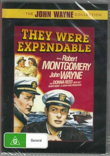 They Were Expendable DVD John Wayne Brand New and Sealed Australian Release