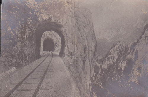 RARE ROMANIA Railroad AND TUNNEL IN MOUNTAINS ROMANIAN RAILWAYS CFR TOP PHOTO