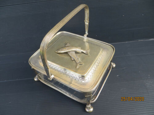 Antique Collectable Silver Plated By L & W. S - Fish Serving Dish