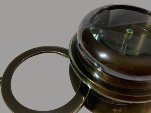 BRASS COMPASS WITH MAGNIFYING GLASS MAGNIFIER - 2 In 1 NAUTICAL SHIPS MELBOURNE