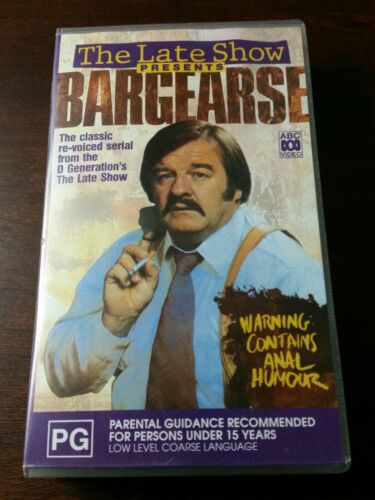 THE LATE SHOW PRESENTS BARGEARSE   A  RARE FIND VHS VIDEO PAL~