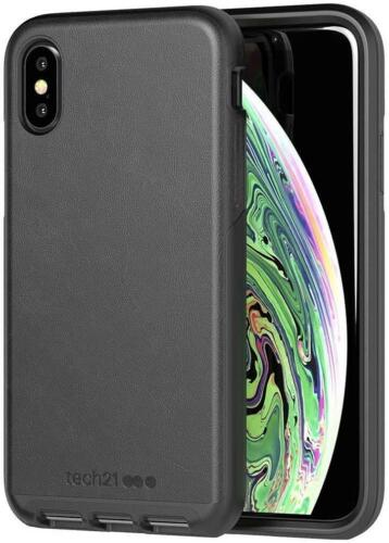 Tech21 iPhone X / XS Evo Luxe Slim Case Cover - Faux Leather - Black - New
