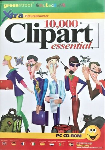 Pre-Owned Greenstreet Collection 10,000 Clipart Essential PC CD Rom Software