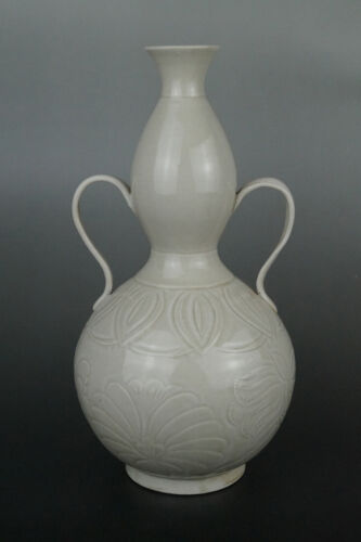 A Fine Collection Chinese 11thC Song Ding Ware ShangShiJu Porcelain Gourd Vases