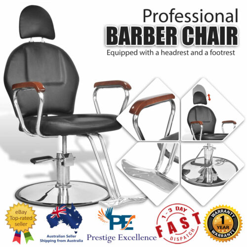 Professional Barber Chair Salon Spa Hairdressing Beauty Styling Chairs Black NEW