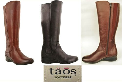 Taos Footwear Leather knee high Comfort Boots with zip Taos Shoes Divine