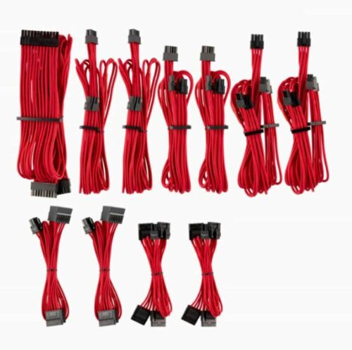 For Corsair PSU Red Premium Individually Sleeved DC Cable Pro Kit Gen 4 Type 4