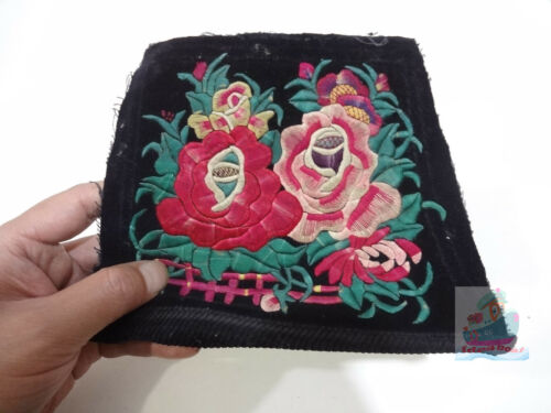 20x15cm Chinese ethnic minority women's Hand Embroidery floral piece