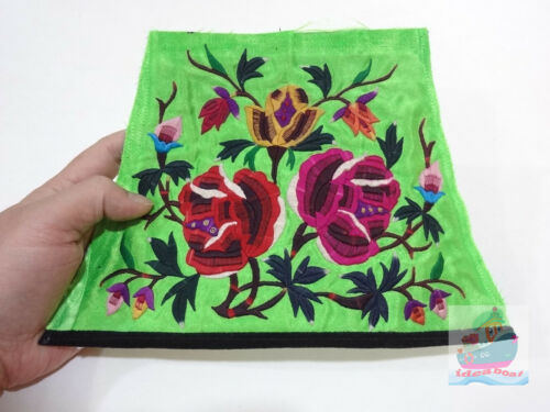 24x17cm Chinese ethnic minority women's Hand Embroidery floral piece