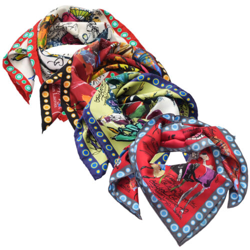 Foulard Christian Lacroix 100% seta Made in Italy 70x70 cm donna L591
