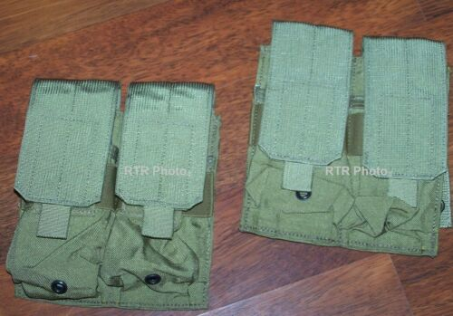2 Pouches SAW MOLLE 200 Rd Military USMC Utility Ammo Magazine Eagle Ind FSBE Pouches - 70991