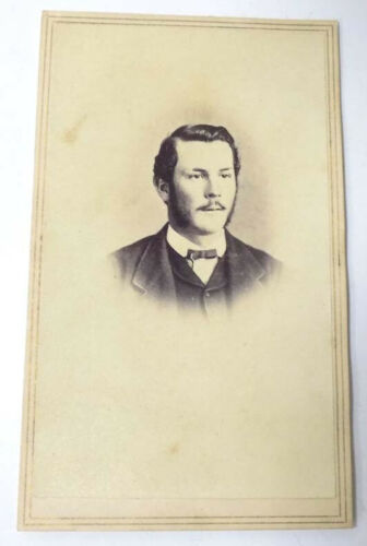 CDV Photo Young Man 2 Cent Tax Stamp  by H.S. Dunshee