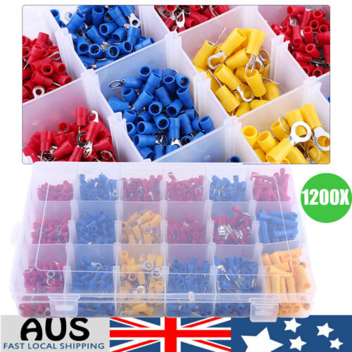 1200X Crimp AU Electrical Insulated Assorted Spade Set Terminals Wire Connector