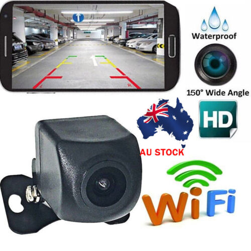 AU WiFi Wireless Car Rear 150°View Cam Backup Reverse Camera For Android iOS AU