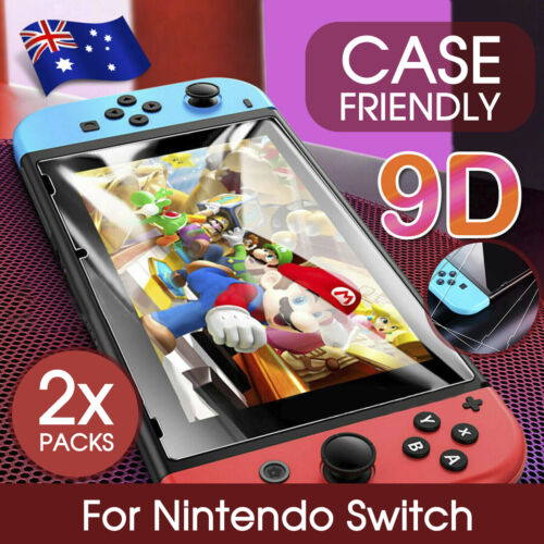 2 X Nintendo Switch Tempered Glass Screen Protector for Nintendo Switch