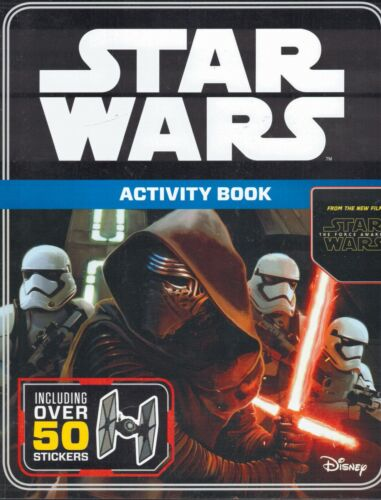 New - STAR WARS The Force Awakens Activity Book (2015) Includes Over 50 Stickers