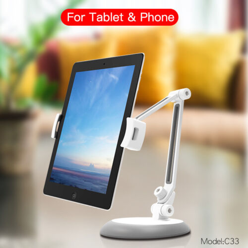 Fit iPad 8 7 6 5 Air iPhone Mini Adjustable Stand Holder Tablet Mount C33 Clamp