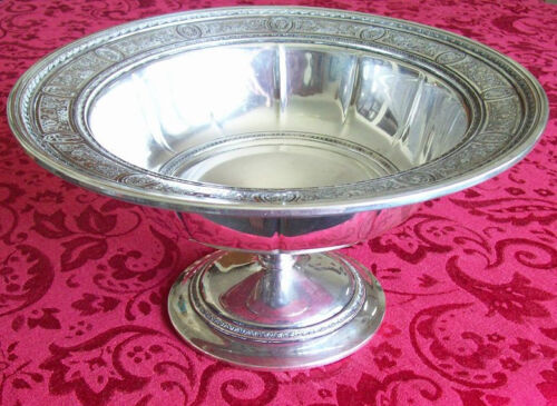 "International Wedgwood Sterling Silver 11"" Centerpiece Pedestal Bowl"