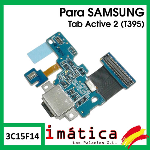 "Board Charge For Samsung Tab Active 2 T395 8.0 "" Button Connector USB C Micro"