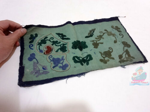 33x19cm Chinese ethnic minority women's Hand Embroidery floral piece