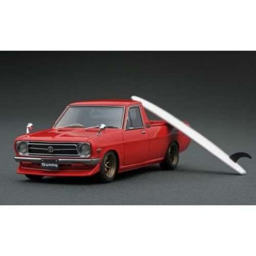 Ignition model 1/43 Nissan Sunny Camion Long B 121 Rouge Limité IG1396 Neuf