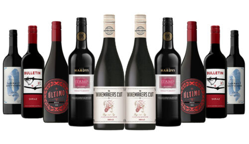 Aussie Classic Red Mix Wines Incl King of clubs (Gold Winner) 10x750ml Free S/R